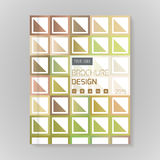 Polygonal vector design template layout for brochure Stock Photography