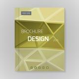 Polygonal vector design template layout for brochure Stock Photos