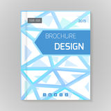 Polygonal vector design template layout for brochure Stock Photo