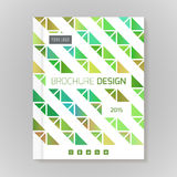 Polygonal vector design template layout for brochure Royalty Free Stock Photography