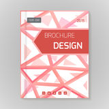 Polygonal vector design template layout for brochure Royalty Free Stock Images