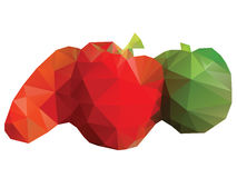 Polygonal Vegetables Stock Images