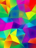 Polygonal Vibrant Color Background. 3D rendering Stock Photos