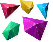 Polygonal vibrant pyramid. Stock Photo