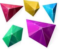 Polygonal vibrant pyramid. Stock Photo