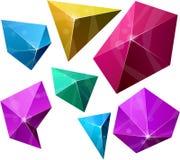Polygonal vibrant pyramid. Royalty Free Stock Images