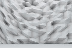 Polygonal wall stock illustration