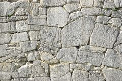 Polygonal walls built from the 7th to the 2nd century BC. The large boulders are interlocked with each other without lime.  stock images
