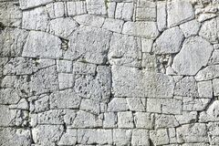 Polygonal walls built from the 7th to the 2nd century BC. The large boulders are interlocked with each other without lime.  royalty free stock images