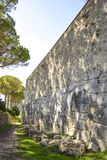 Polygonal walls built from the 7th to the 2nd century BC. The large boulders are interlocked with each other without lime. Amelia, Umbria royalty free stock photos