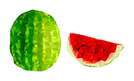Polygonal Watermelon Illustration Stock Photography