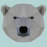 Polygonal white bear background Stock Photography