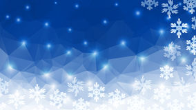 Polygonal winter background. Polygon winter background. Stylized snowflakes and starlight. Vector EPS-10 Stock Images