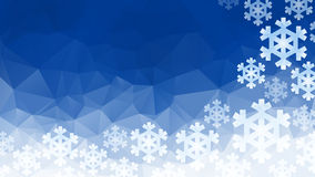 Polygonal winter background Stock Photos