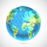 Polygonal World Globe Royalty Free Stock Images