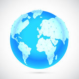 Polygonal World Globe Stock Images