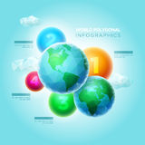 Polygonal World Infographic Stock Photography