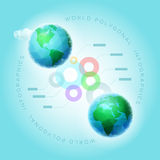 Polygonal World Infographic Stock Photos