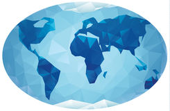 Polygonal world map Royalty Free Stock Photography