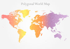 Polygonal world map Stock Photos