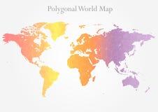 Polygonal world map Stock Photos