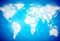Polygonal World Map Royalty Free Stock Image