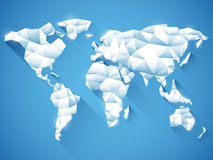 Polygonal World Map Stock Image