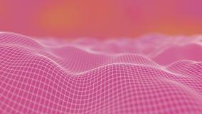 Polygonal yttersida som vinkar gullig bakgrund Rosa f?rgf?rgdesign 3D att framföra med bokeh och den suddiga illustrationen för b royaltyfri foto