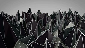 Polygonale abstrakte Oberfläche Semless-Schleife 3D übertragen stock footage