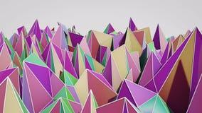 Polygonale abstrakte Oberfläche Semless-Schleife 3D übertragen stock video