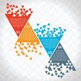 Polygonale Art der Schablone des modernen Designs lizenzfreie abbildung