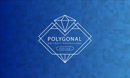 Polygonale blaue Hintergrundbeschaffenheit der Zusammenfassung, blaues gemasert, Fahnenpolygonhintergründe, Vektorillustration stock abbildung
