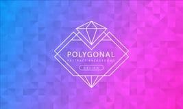 Polygonale blaue rosa Hintergrundbeschaffenheit der Zusammenfassung, blaues rosa gemasert, Fahnenpolygonhintergründe, Vektorillus vektor abbildung