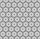 Polygonale Blumenverzierung, vector nahtloses Muster stock abbildung