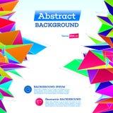 Polygonale geometrische Abstraktion Lizenzfreies Stockfoto