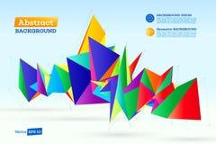 Polygonale geometrische Abstraktion Stockbild
