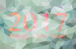 Polygonale Grafik des guten Rutsch ins Neue Jahr 2017 Lizenzfreies Stockbild