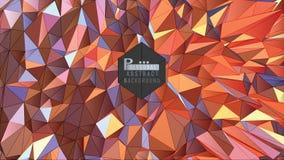 Polygonaler abstrakter bunter Hintergrundvektor Lizenzfreie Stockfotografie