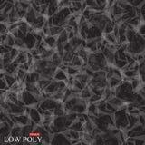 Polygonaler abstrakter Hintergrund Niedriges Poly-, Molekül und Kommunikation mit verbundenen Punkten, Linien Auch im corel abgeh Stockfotos
