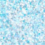 Polygonaler Frosthintergrund Stockfotografie