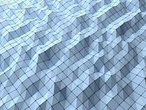 Polygonaler geometrischer Formhintergrund der modernen Wissenschaftszusammenfassung wir Lizenzfreie Stockfotografie