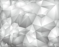 Polygonaler grauer Vektordreieck-Perspektivenhintergrund Stockbild