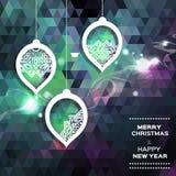 Polygonaler Hintergrund der frohe Weihnacht-Zusammenfassung Stockfotografie