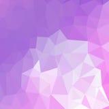 Polygonaler Hintergrund der hellpurpurnen Vektorzusammenfassung Stockfotografie