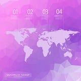 Polygonaler Hintergrund der Weltkarte Vektor Lizenzfreie Stockfotografie