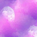 Polygonaler Hintergrund des abstrakten Mondes Vektor Lizenzfreies Stockfoto