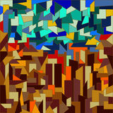 Polygonaler Mosaikhintergrund Brown-blau stock abbildung