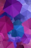 Polygonaler purpurroter Regenschirmkunsthintergrund Lizenzfreie Stockfotos