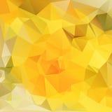 Polygonales Gelb des Hintergrundes Stockfoto