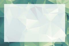 Polygonales geometrisches abstraktes strukturiertes Grenze- und Hintergrund gree Lizenzfreie Stockfotografie